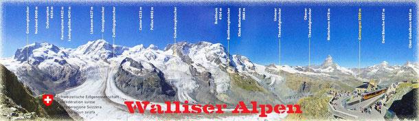 So hatten wir uns den Rundblick in die Walliser Alpen vorgestellt, doch das Wetter wollte es nicht!