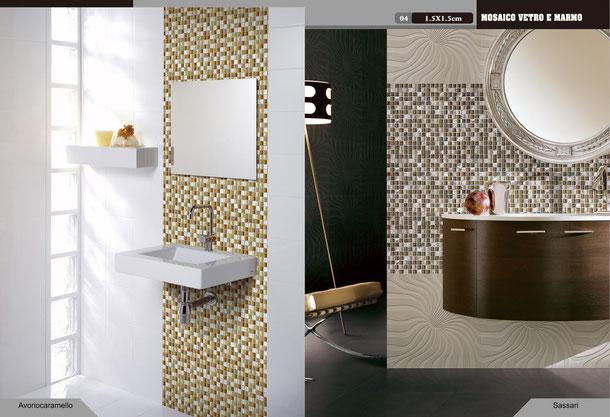 Mosaico casaeco pavimenti e rivestimenti in ceramica - Bagno mosaico rosso ...