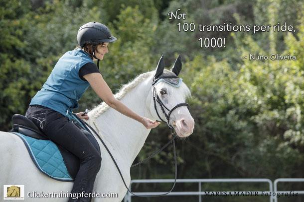Nicht 100 Übergängen pro Ritt, sondern 1000!