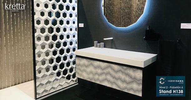 PanelPiedra - kretta BATH Cevisama 2020