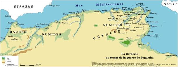 Carte de la Berbérie - hkadra.blogspot.fr