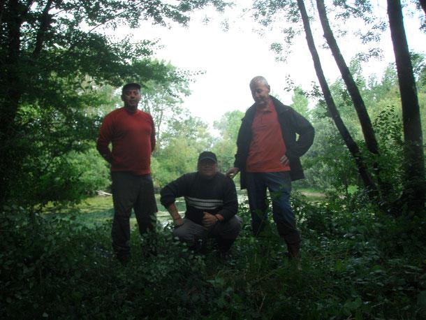 Une partie de l'équipe de randonnée rivières d'AQUAE