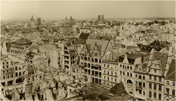 Quelle: Fotografie eines öffentlich ausgehangenen Bildes vom Muzeum Miejskie Wrocławia am Rynek