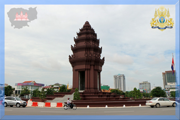 Independence Monument - Unabhängigkeitsdenkmal in Kambodschas Hauptstadt Phnom Penh