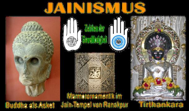 Symbole und Zeichen des Jainismus, der für Gewaltlosigkeit und dem Schutz des Lebens einsteht!