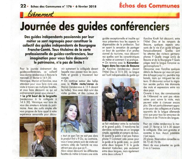 bel article sur les balades insolites des guides indépendants en Bourgogne - schöner Bericht über unsere ungewöhnlichen Touren