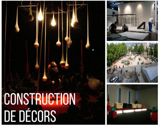 construction de décors festival théâtre cinéma ou événement privé