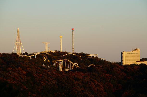 鷲羽山ハイランドと児島ホテル。