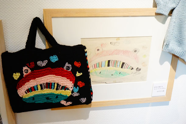 竹馬さんの作品にはお孫さんの絵がモチーフになったものもあります。