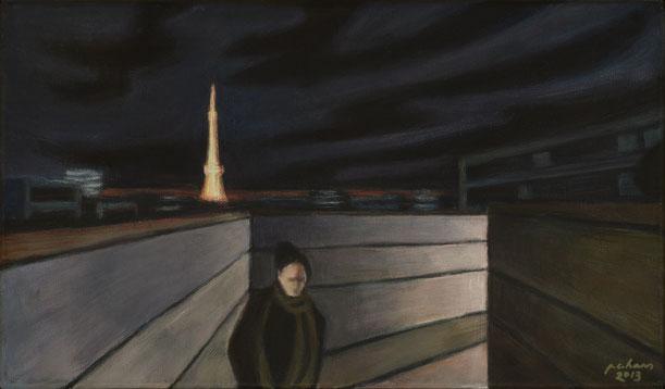 philipp christoph haas | [roppongi] aus der serie 'nachtRaeume', akryl auf leinwand, 2013