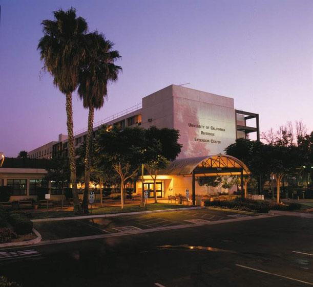Blick auf ein Gebäude der University of California, Riverside