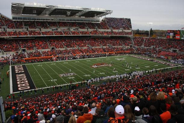 American Football Spiel an der Oregon State University