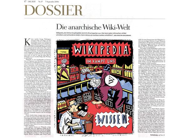 """Niels Schroeder, Zeichner für """"Die Zeit""""."""