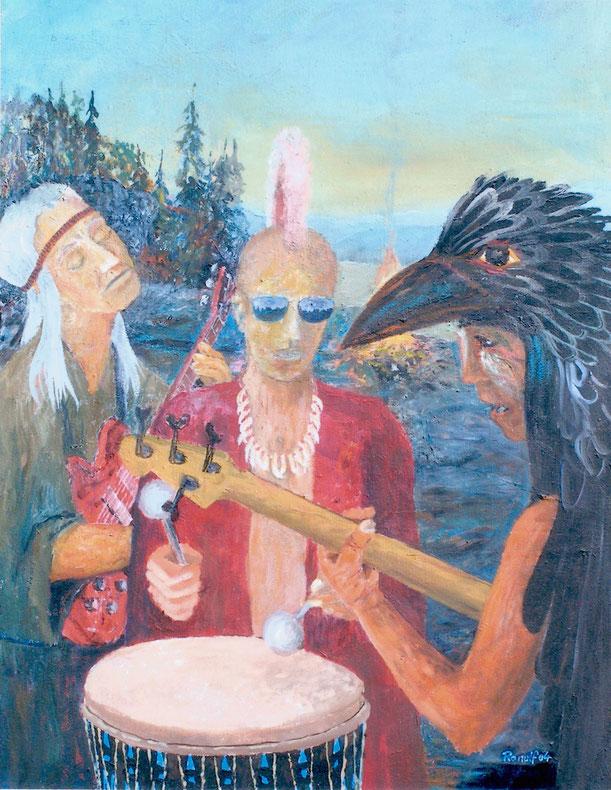 Indianer, Malerei, Musik