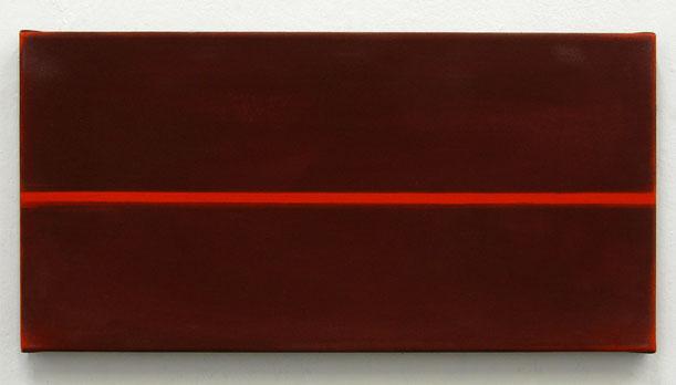 Matthieu van Riel. Schilderij. Zonder titel 25x50cm acryl op katoen 2006