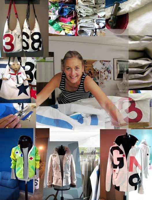 the world of sailart fashion - made of used sails - jackets bags accessoires - Segeltuchjacken Segeltuchtaschen