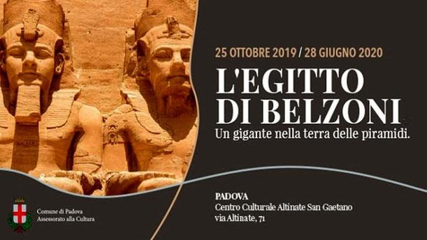 Locandina mostra L'Egitto di Belzoni