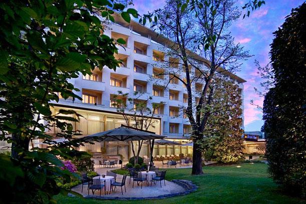 Veduta dell'Hotel Terme Bristol Buja, di Abano