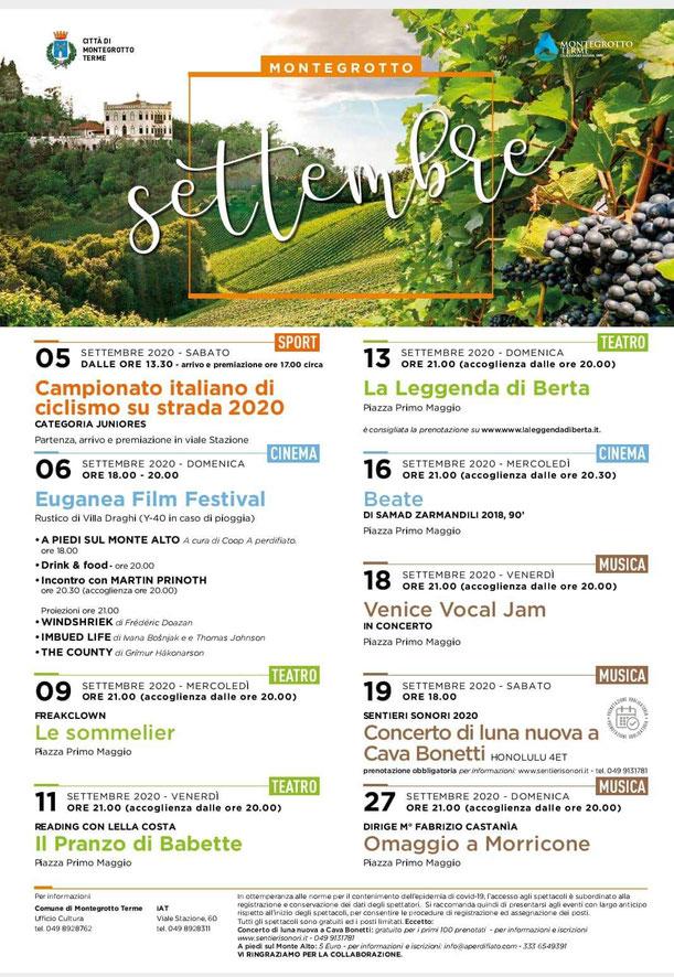 Eventi settembre Montegrotto