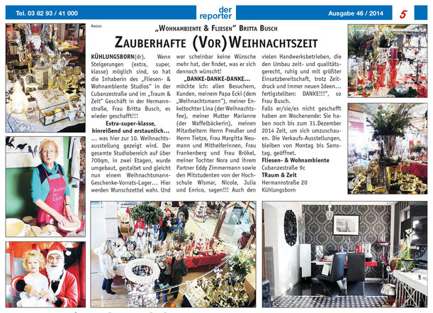 Anzeige Reporter 46/2014 S.5