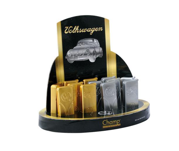 Metall Feuerzeug VW Käfer in Silber oder VW Bulli in Gold