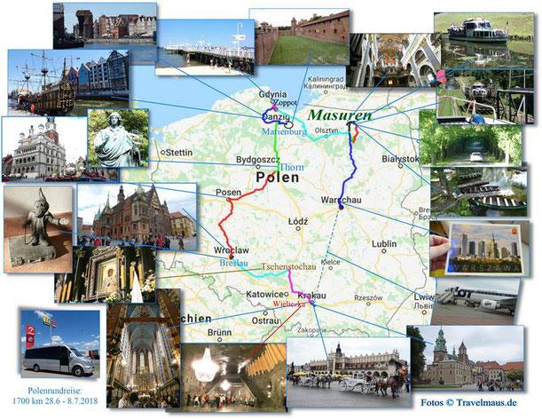 Polenrundreise 28.6.-8.7.2018 - 1700 km (klick an für unseren Bericht)