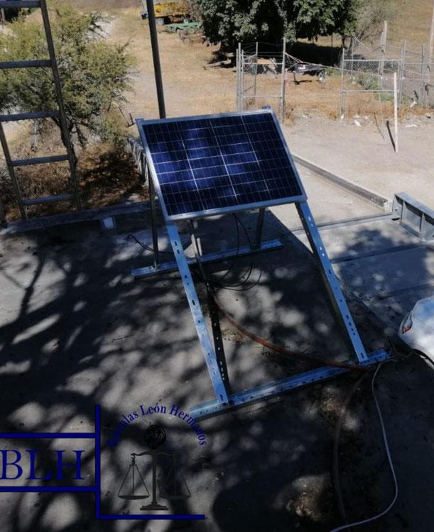 panel solar para básculas