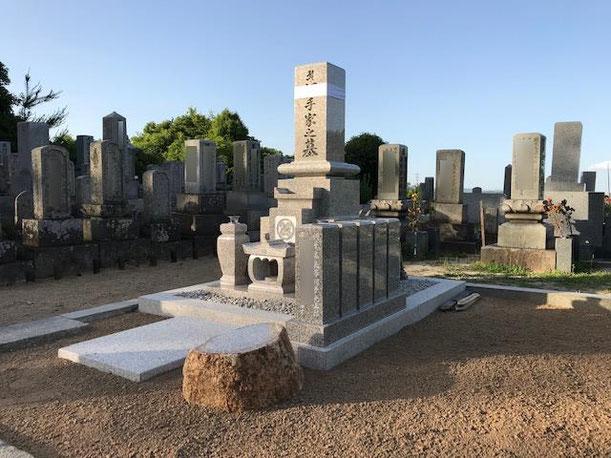 9寸先祖墓+巻石ビシャン