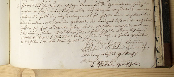 Protokoll GR Wittnau, Samstag, 15. Juni 1850 (GA Wittnau)