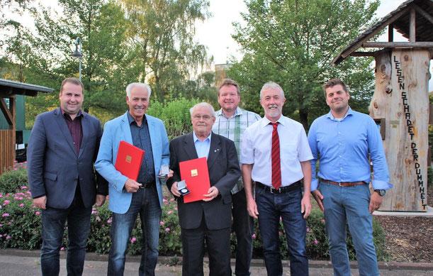 v.l. Magnus Jung, Kurt Nofts, Hans-Werner Wilhelm, Uwe Schäfer, Thomas Steinmetz, Björn Gebauer