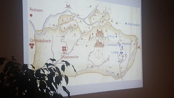zeigt die Karte in denen Hexenverfolgungen stattfanden