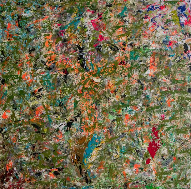 "Titel: ""THE BIRTH OF THE GNU"" (2016), 70 cm x 70 cm"