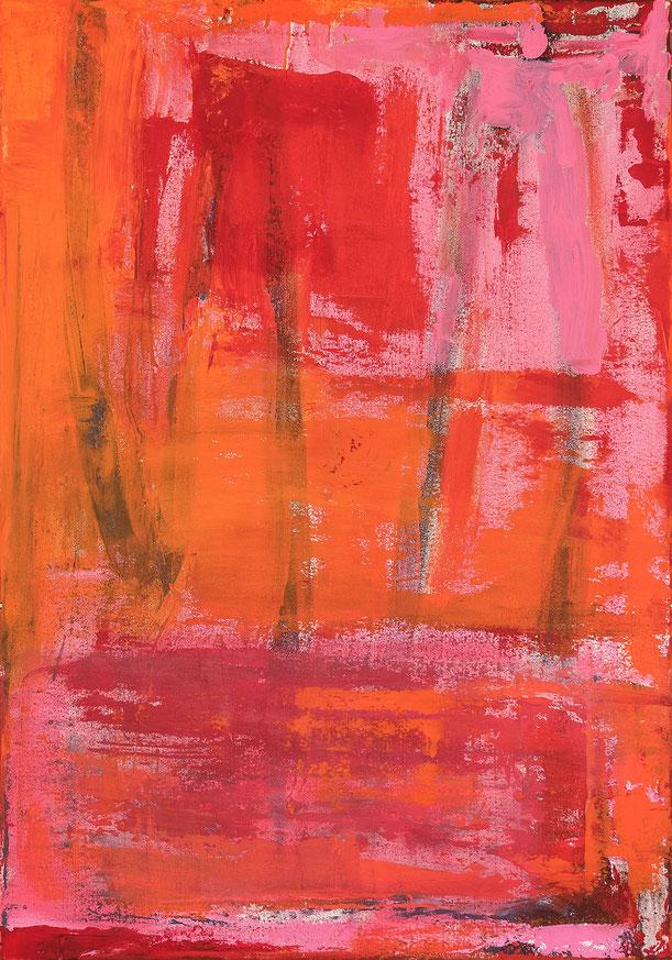 Rottöne 2, Acryl auf Leinwand