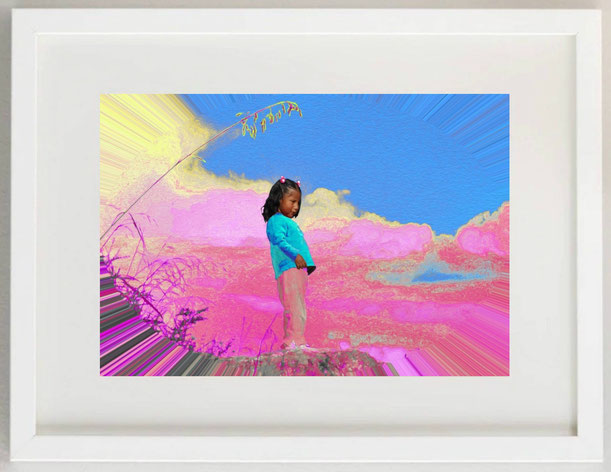 "51 / SALVATORE MILANO, ""Vedetta inca"",  2020, Arte digitale, 30 x 20"