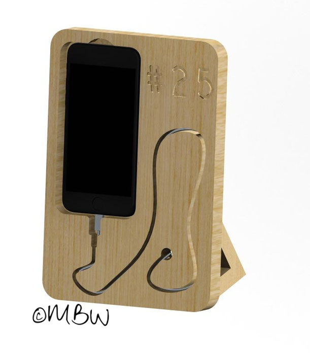 Buchenleimholz - DXF / STEP - Files free download - Iphone 6 Ladestation