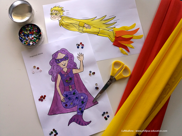 projet artistique Die Superhelden (allemand au cycle 2)