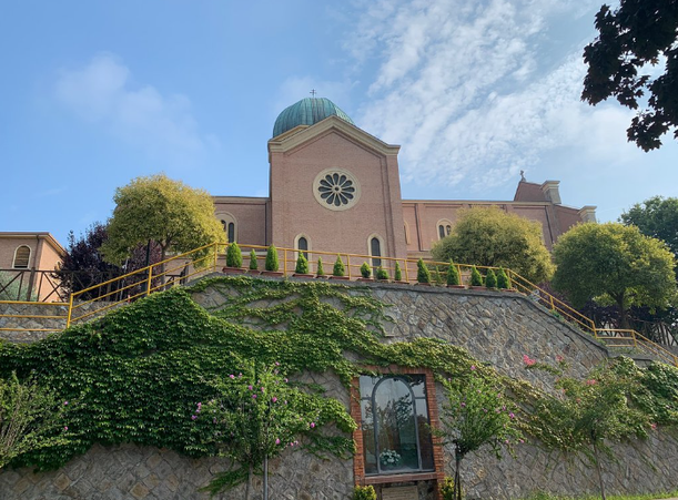 Il Duomo di Montegrotto, sopra il Colle Montagnon