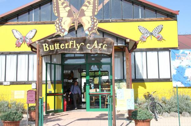 Ingresso del Butterfly Arc - Casa delle Farfalle