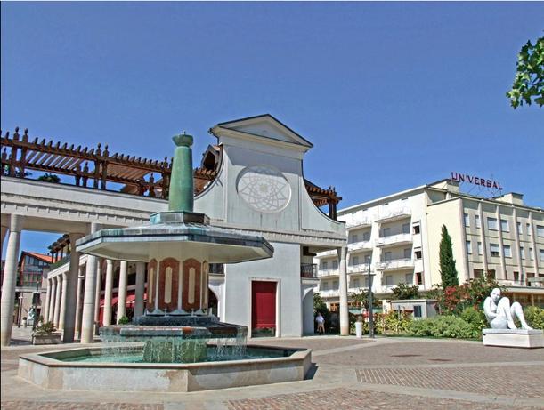 L'ingresso del Parco Urbano Termale, da Via Flacco