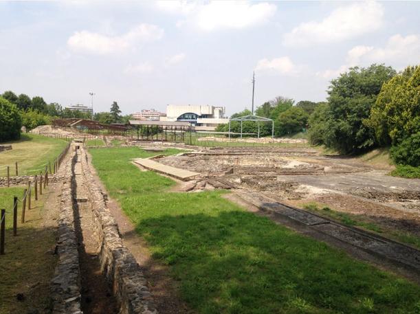 Vista degli scavi romani di Montegrotto Terme
