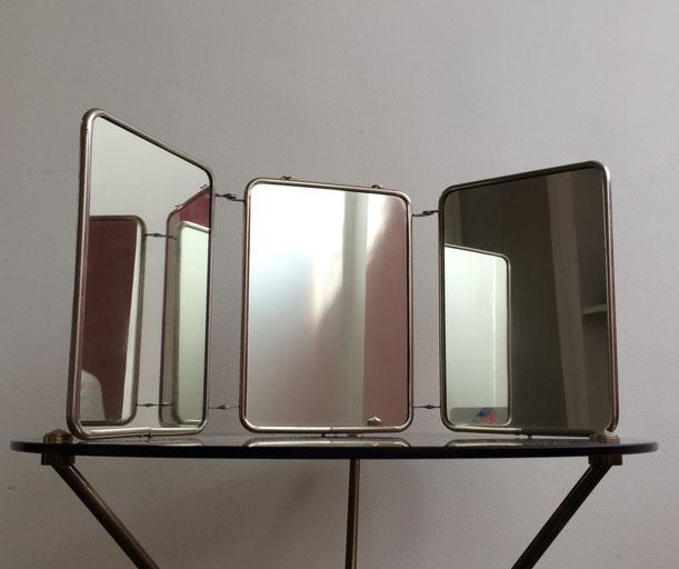 miroir de barbier, miroir vintage