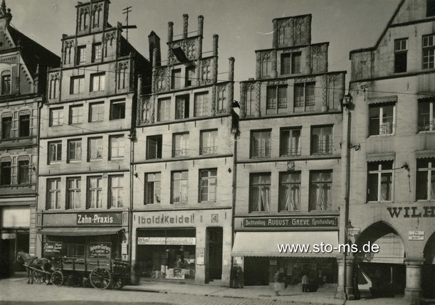 Häuser am Drubbel um 1920