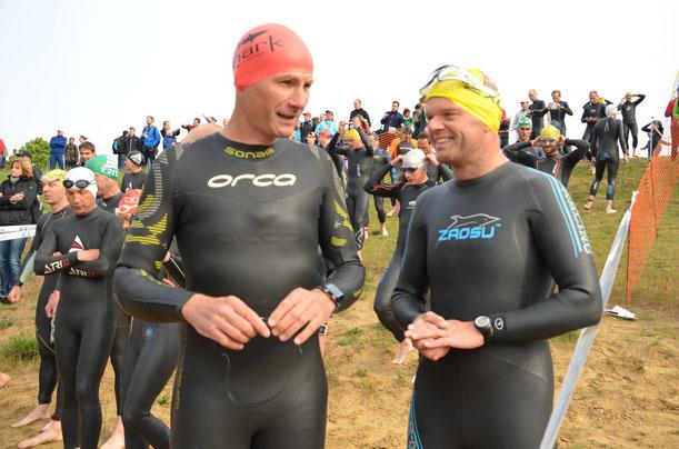 Detlef und Rolf vor dem Schwimmen