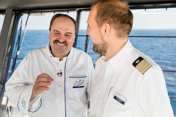 Johann Lafer - kulinarischer Botschafter der Mein Schiff Herz // © TUI Cruises