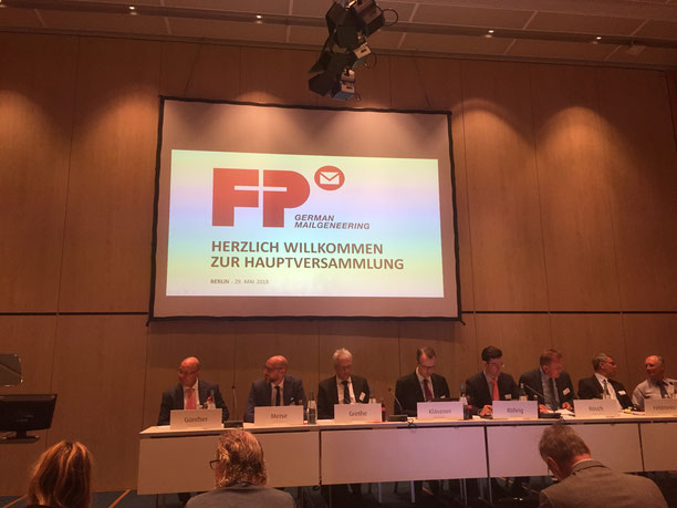 Hauptversammlung der Francotyp Postalia, Berlin, 29.05.2018