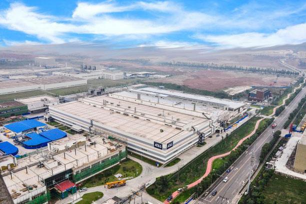 Ansicht des Leiterplatten-Werkes in Chongqing, AT&S