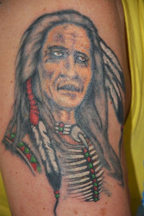 Tatto Indianer restauriert