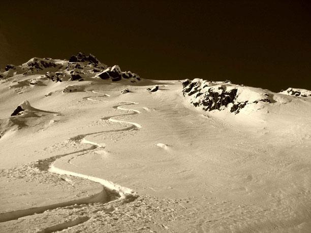 a Spur im Schnee. . . dei Leben. . .