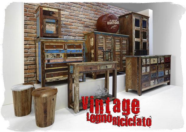 Vintage Arredamento Industriale Legno Riciclato