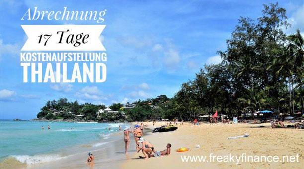freaky finance, freaky travel, kostenneutral reisen, Abrechnung, kann eine Fernreise billiger sein als zu Hause zu bleiben, Kata Beach, Strand, Meer, Menschen, Palmen, Thailand, Phuket